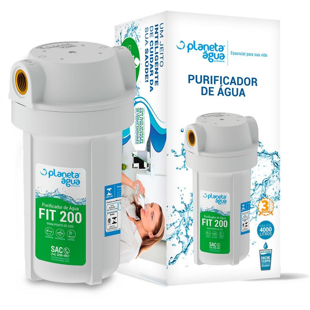 Purificador FIT200 para Bebedouro e Cozinha da Planeta Água 7'' POU