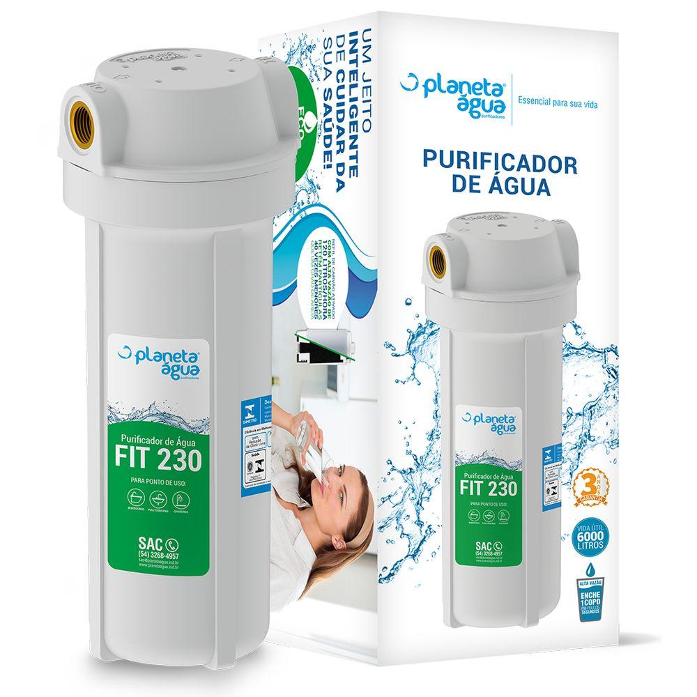 """Purificador para Bebedouro e Cozinha Planeta Água Fit 230 9.3/4"""" POU - Certificado INMETRO"""